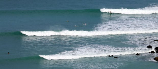 Matapalo Surf spot in Costa Rica with surfers.