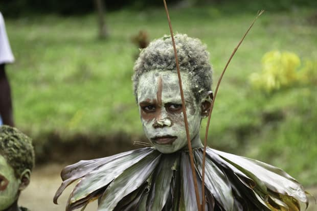 Meeting the locals on a Papua New  Guinea small ship cruise.