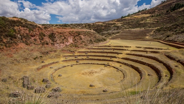 ruins of old amphitheater on peru highlights land tour