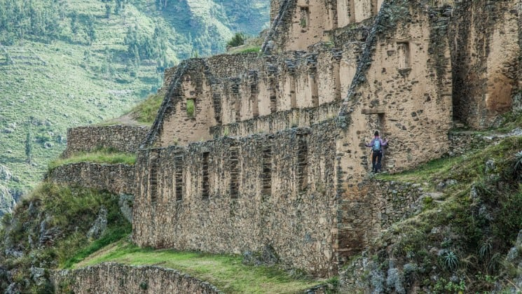 face of ruins of machu picchu on sacred valley & lares adventure land tour