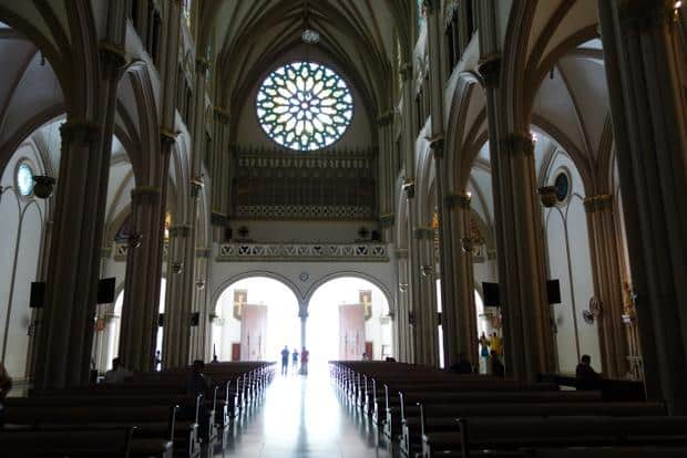 Inside of the cathedral in Guayaquil, Ecuador.