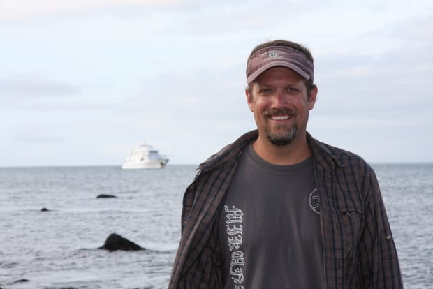 AdventureSmith founder and director, Todd Smith, in Galapagos.