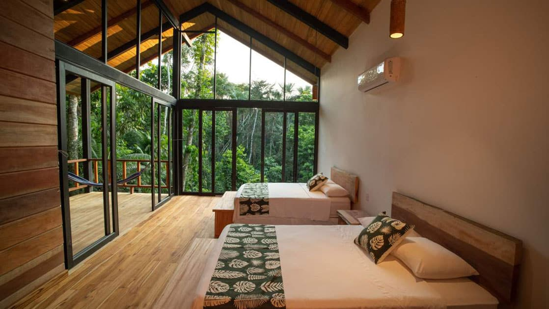 Standard double room at Sacha Jungle Lodge, connected to a Suite, ideal for groups of 3, 4 or 5.