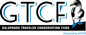 Galapagos Traveler Conservation Fund logo with acronym and image of blue-footed booby