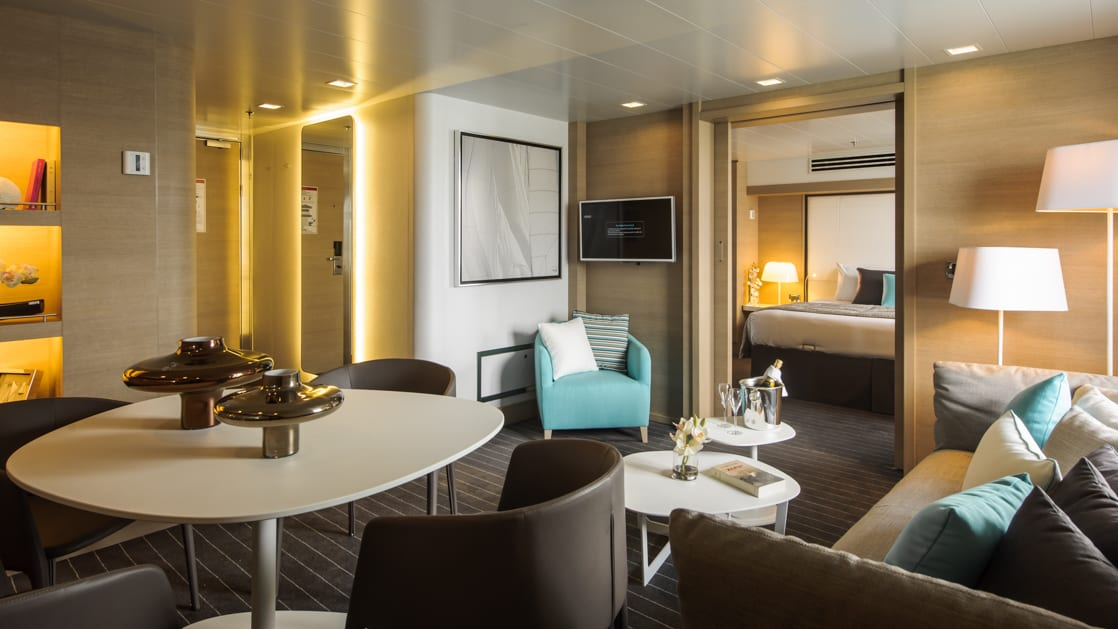 Owner's Suite aboard Le Soleal. Photo by: Francois Lefebvre/Ponant
