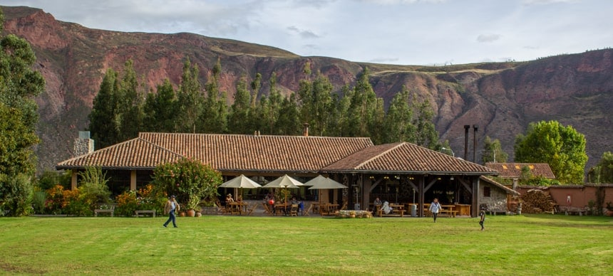 Peru lodge Sol y Luna sits in front of the moutnains of the Sacred Valley