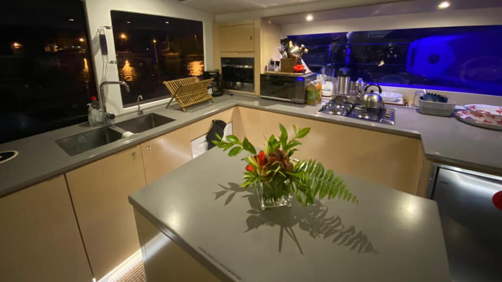 Galley aboard Nowhere