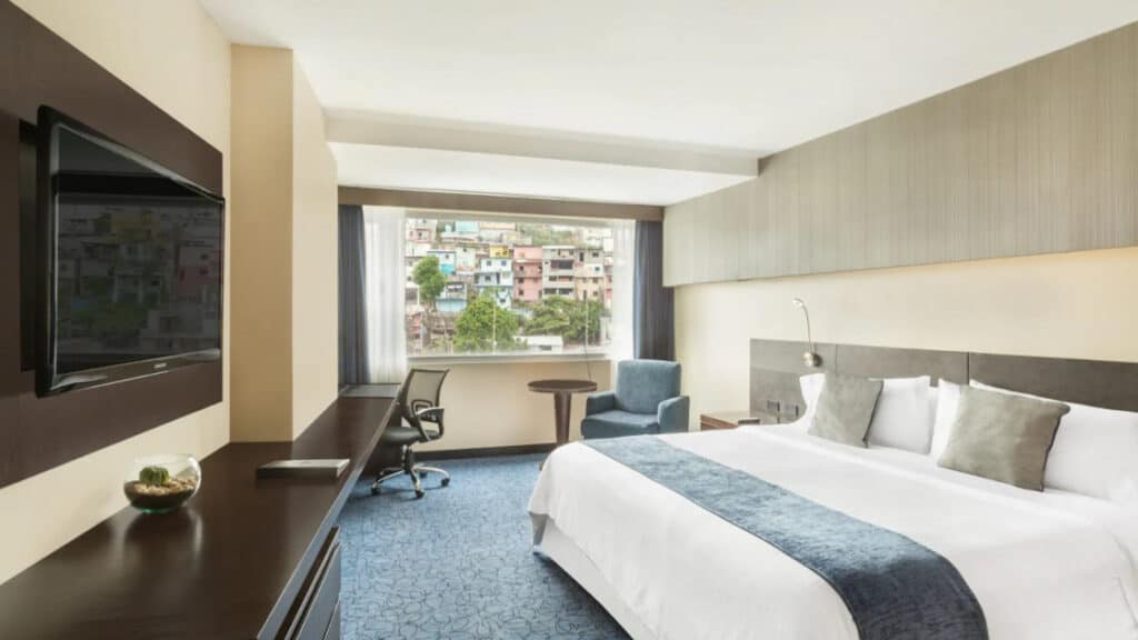 Hillside Room with one king bed at Wyndham Guayaquil