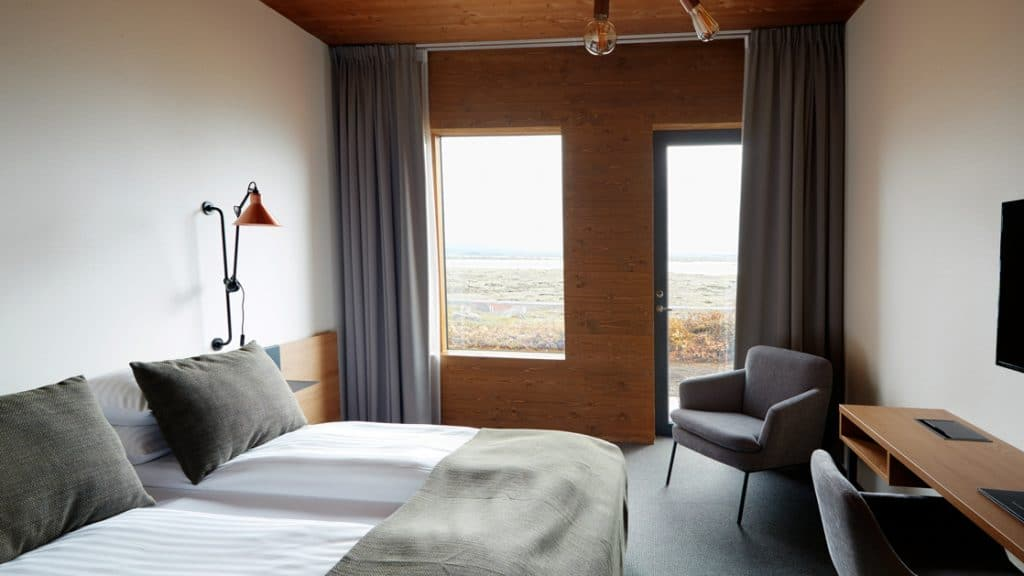 Lake View room with double bed at Fosshotel Myvatn