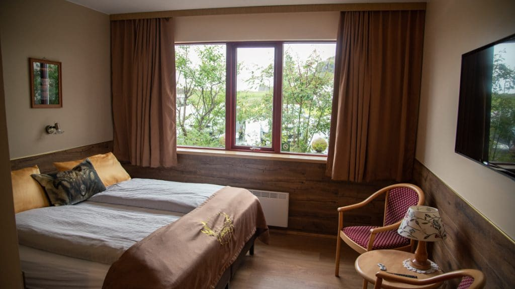 Double occupancy room at Hotel Smyrlabjorg