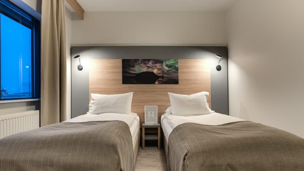 Standard room with twin beds at Hotel Vik i Myrdal