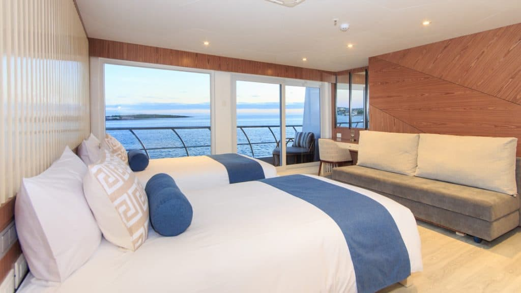 Golden Suite with twin beds aboard Elite