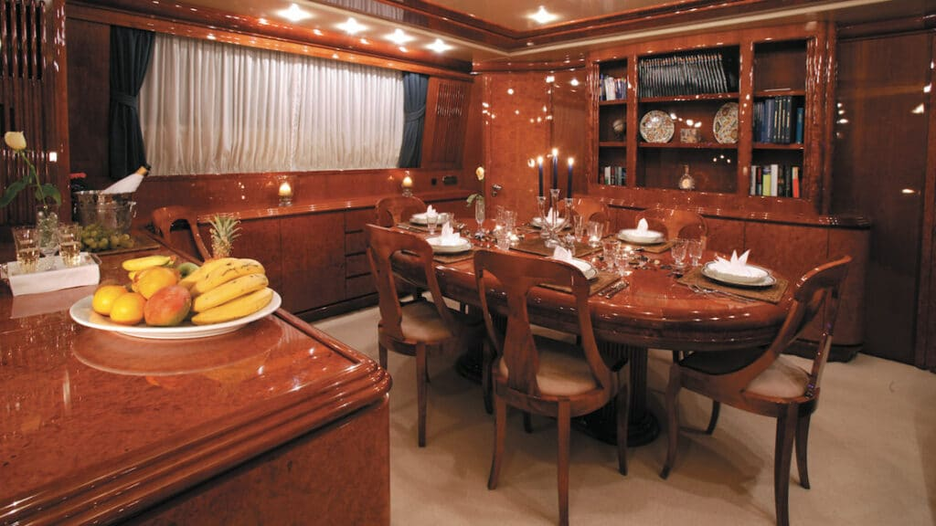 Dining room aboard Monte Carlo